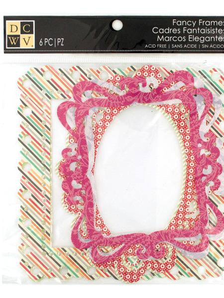 Fancy Designer Scrapbooking Frames (Available in a pack of 12)