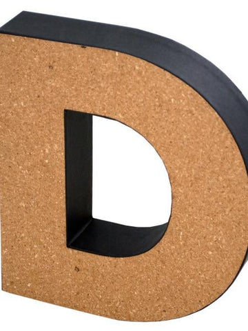 'D' Decorative Cork Board Letter (Available in a pack of 24) - Blobimports.com