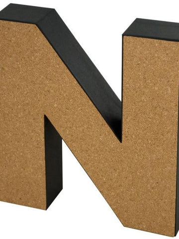 'N' Decorative Cork Board Letter (Available in a pack of 24) - Blobimports.com