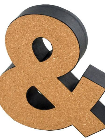 '&' Decorative Cork Board Symbol (Available in a pack of 24) - Blobimports.com