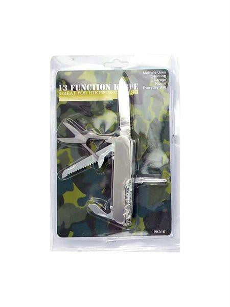 13 Function Pocket Tool Knife (Available in a pack of 24)