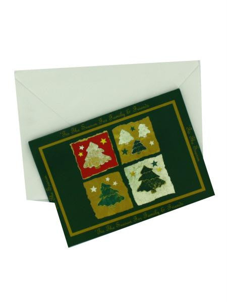 "Evergreen ""'Tis the Season"" Christmas cards (Available in a pack of 24)"