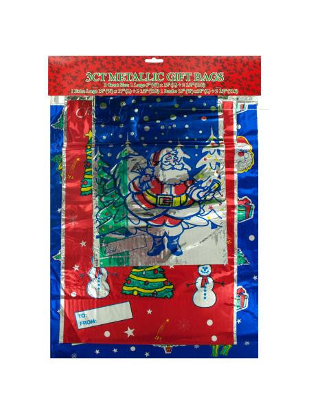 Metallic Christmas Gift Bags (Available in a pack of 24)