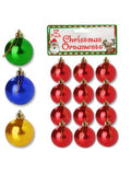 Small Christmas Ornament Balls (Available in a pack of 25)