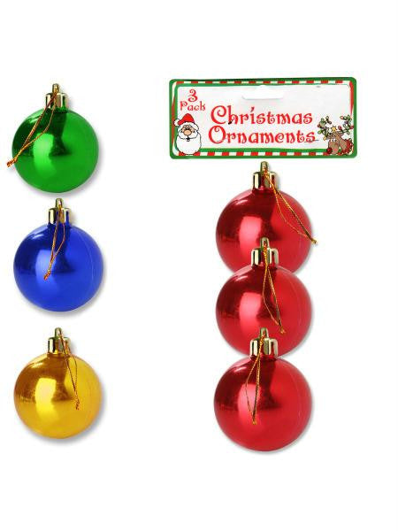 Christmas Bulb Ornaments (Available in a pack of 24)