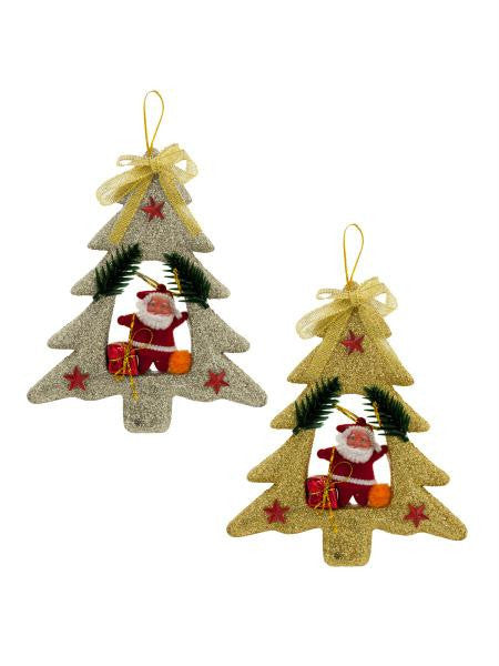 Christmas Tree with Santa Claus Ornament (Available in a pack of 24)