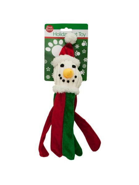 Plush Holiday Dog Toy with Crinkle Strips (Available in a pack of 4)
