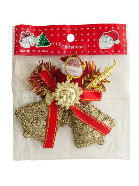 Santa-Bells Hanging Christmas Decoration (Available in a pack of 25)