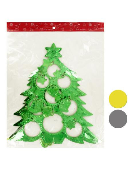 Christmas Tree Shape Hanging Decoration (Available in a pack of 15)