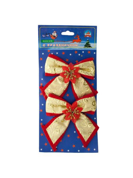 Christmas Bow Decorations (Available in a pack of 24)