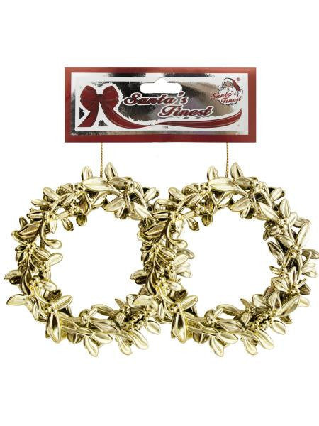 Christmas Metallic Wreath Ornament Set (Available in a pack of 12)