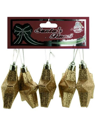 Christmas Glitter Star Ornament Set (Available in a pack of 24)