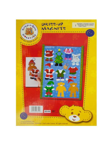 Build-A-Bear Christmas Dress-Up Magnets (Available in a pack of 24)
