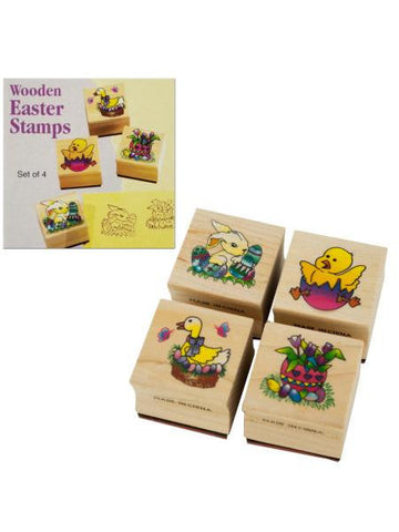 Wooden Easter Stamps Set (Available in a pack of 24)