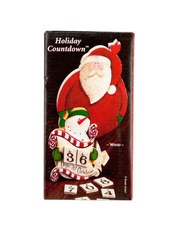 Christmas Countdown Santa & Snowman Table Decoration (Available in a pack of 18)