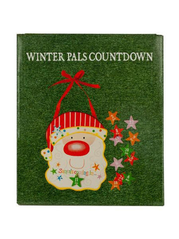 Christmas Countdown Santa Wall Decoration (Available in a pack of 24)