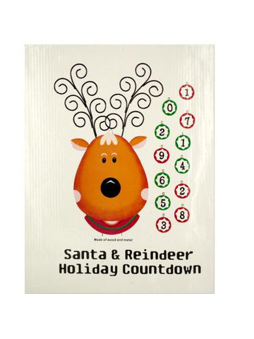 Christmas Countdown Reindeer Wall Decoration (Available in a pack of 18)