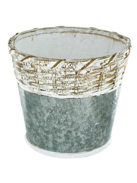 Holiday Wicker Gift Bucket with Snowflakes (Available in a pack of 8)