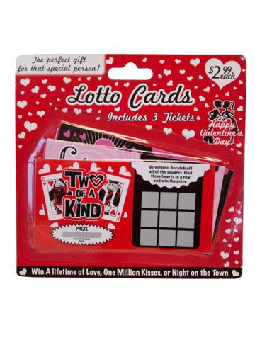 Valentine's Day Lotto Cards (Available in a pack of 20)