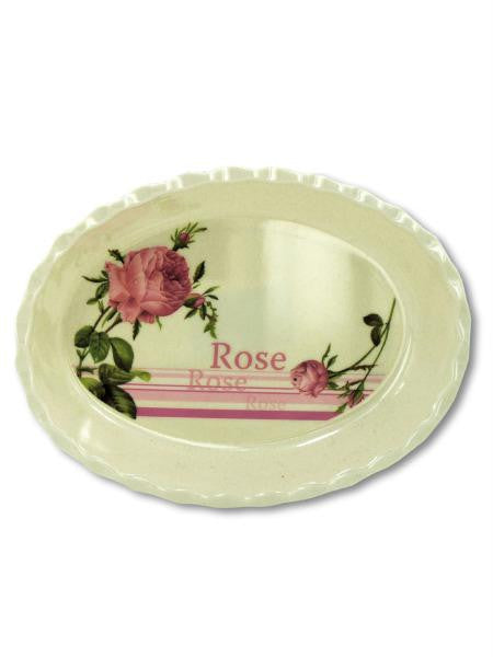 Melamine Tray with Rose Design (Available in a pack of 25)