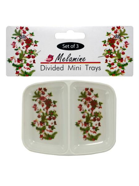 Holly Design Divided Mini Trays (Available in a pack of 24)