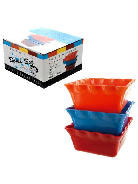 Fiesta Style Nested Bowl Set (Available in a pack of 4)