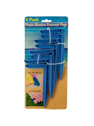 Picnic Blanket Fastener Pegs Set (Available in a pack of 12)