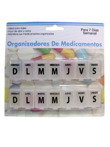 7-Day Spanish Language Pill Case (Available in a pack of 24)