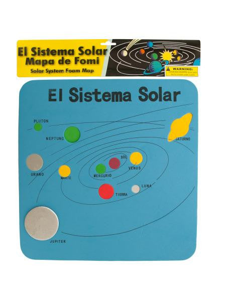Spanish Solar System Foam Map (Available in a pack of 24)