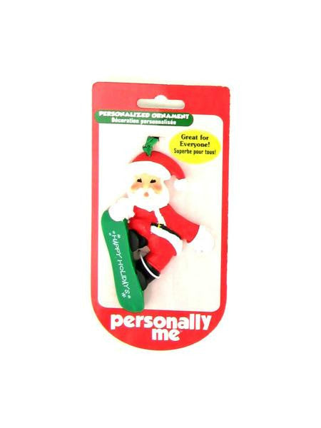 """Happy Holidays"" Santa ornament (Available in a pack of 24)"