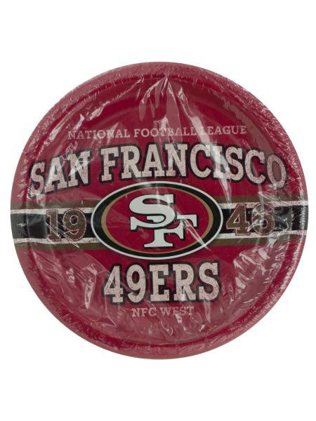 San Francisco 49ers Party Plates (Available in a pack of 20)