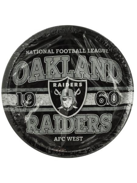 Oakland Raiders Party Plates (Available in a pack of 20)