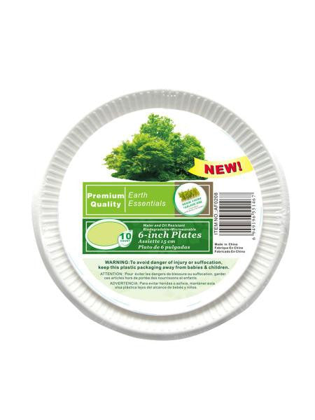 Paper plates, pack of 10 (Available in a pack of 24)