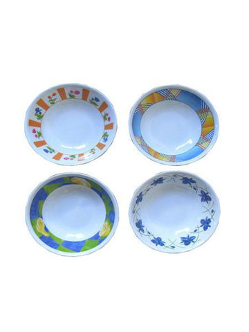 Melamine Bowl with Rose Print (Available in a pack of 12)