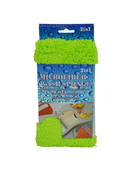 2 In 1 Microfiber Wash Sponge (Available in a pack of 8)