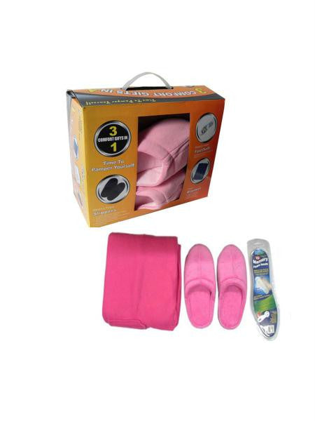 Slipper & Blanket Set (Available in a pack of 1)
