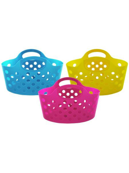 Plastic Storage Basket with Handles (Available in a pack of 12)
