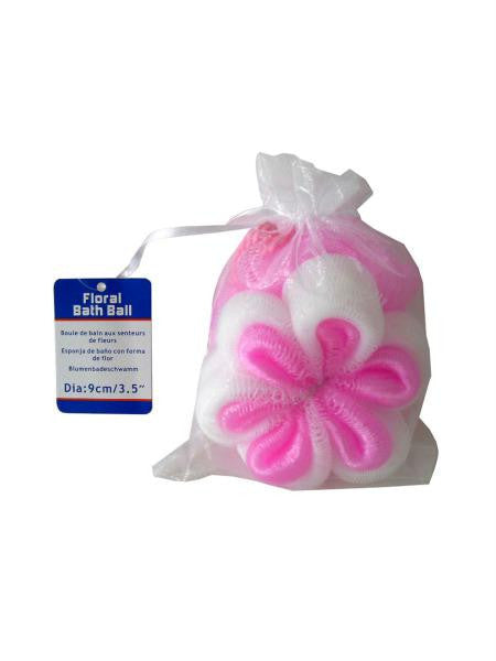 Floral-Shaped Bath Scrubber (Available in a pack of 24)