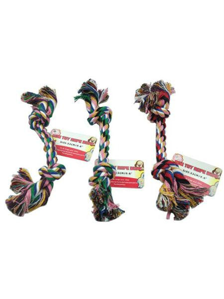 Knotted Dog Rope Toy (Available in a pack of 36)