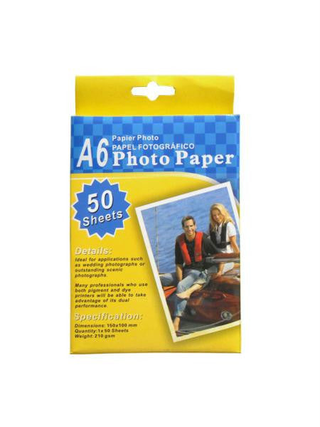 Photo Paper (Available in a pack of 8)