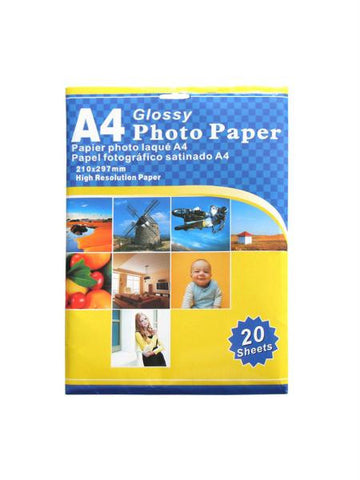 A4 Glossy Photo Paper (Available in a pack of 8)