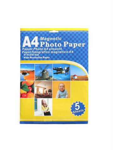 Magnetic Photo Paper (Available in a pack of 4)