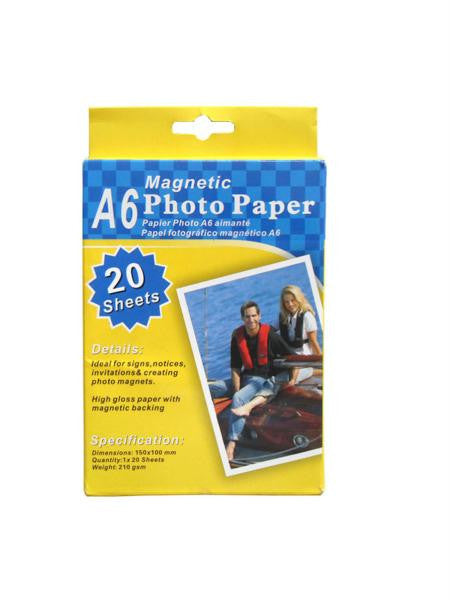 Magnetic photo paper, 20 sheets (Available in a pack of 4)