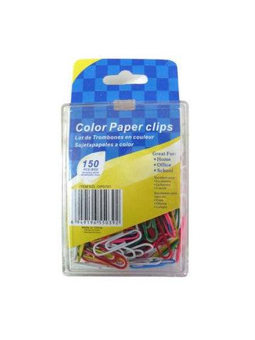 Colored Paper Clips (Available in a pack of 24)