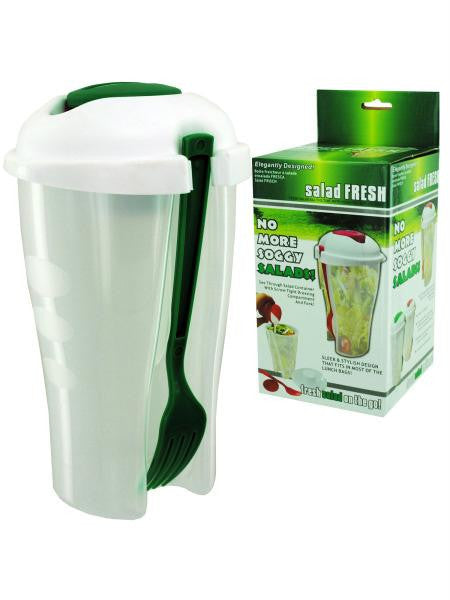 Salad Fresh Container with Separate Dressing Compartment (Available in a pack of 8)