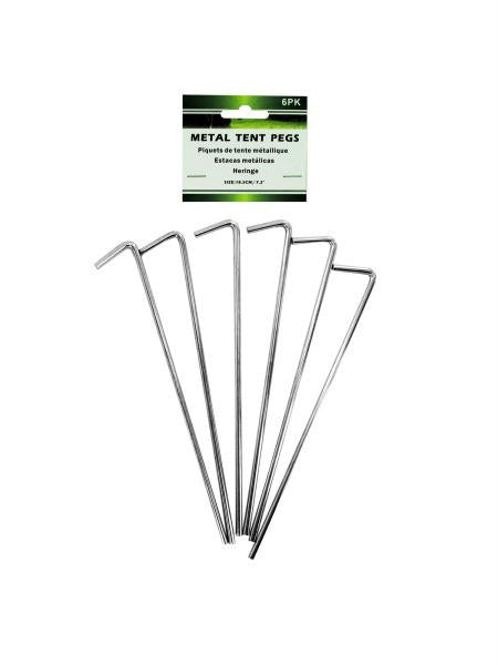 Metal Tent Pegs Set (Available in a pack of 24)