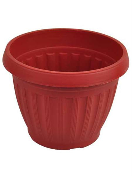 Terracotta Style Plastic Round Flower Pot (Available in a pack of 24)