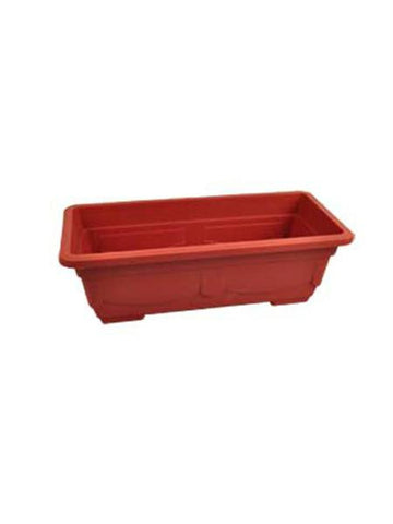 Rectangular Clay-Look Plastic Flower Pot (Available in a pack of 8)