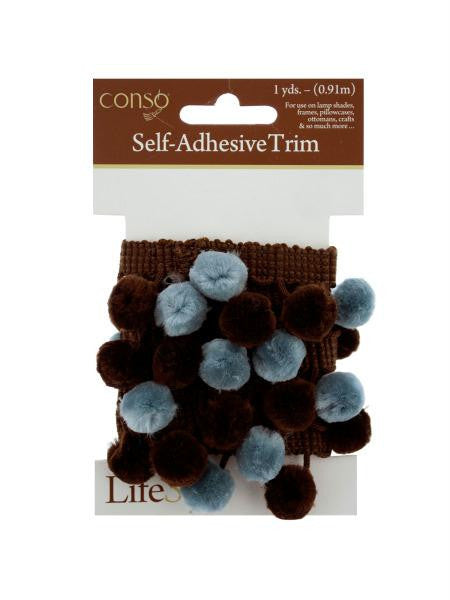 Brown & Blue Self Adhesive Decorative Trim (Available in a pack of 24)