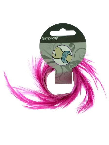 Pink Feather Slap Bracelet (Available in a pack of 30)